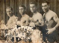 De izquierda a derecha: Guirado, Dick Yier, Olmedo (mi abuelo) y Manolon.