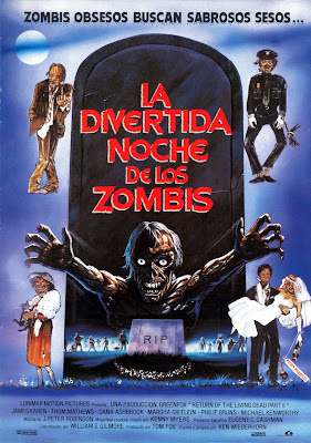 La divertida noche de los zombis, Dan O'Bannon, Ken Wiederhorn, Dana Ashbrook, The Return of the Living Dead