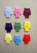 vintage owlie buttons