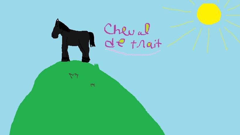 Moi et les chevaux dessin cheval de trait - Dessin cheval de trait ...