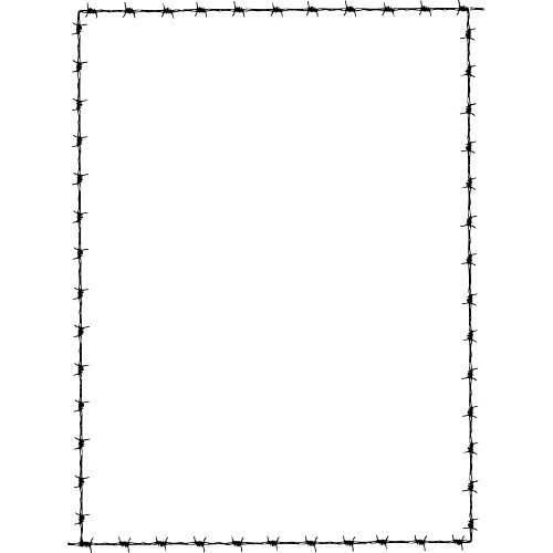 barbed wire font. clip art borders and frames