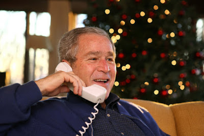 President Bush calls to members of the Armed Forces