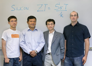 From left, Renkun Chen, Arun Majumdar, Peidong Yang and Allon Hochbaum