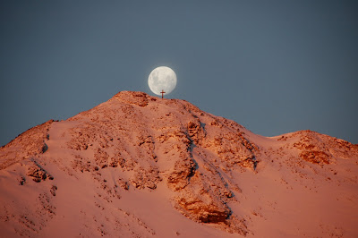 Full Moon Over Observation Hill Antarctica