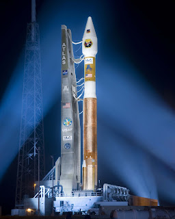 MidSTAR-1 sits aboard an Atlas 5 rocket