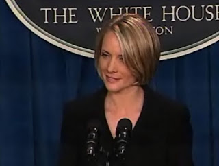 Dana M. Perino, Vidcap from White House Briefing