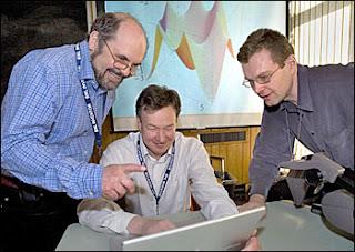 L to R: Alexei Tsvelik, Dmitri Kharzeev, Igor Zaliznyak, Brookhaven National Laboratory