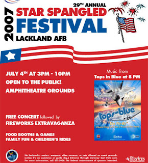 Star Spangled Festival Flyer. Fourth of July Flyer
