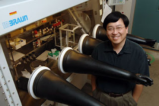 Victor Lin, an Iowa State University professor of chemistry, is using nanotechnology and chemistry to improve biodiesel production. Photo by Bob Elbert