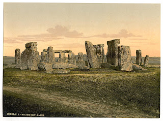 Stonehenge, Salisbury, England is a Neolithic and Bronze Age monument located near Amesbury in Wiltshire, England, about 8 miles (13 km) northwest of Salisbury, Credit Line: Library of Congress, Prints & Photographs Division, [reproduction number, LC-DIG-ppmsc-08828]