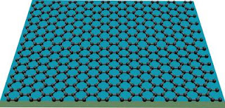 Caption: Image shows graphene, which can act as an atomic-scale billiard table, with electric charges acting as billiard balls. Credit: Lau lab, UC-Riverside. Usage Restrictions: None.