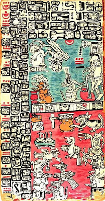 PLATE XX OF THE MANUSCRIPT TROANO (DRESDEN CODEX)
