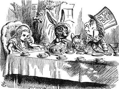 Alice's adventures in wonderland Alice, March Hare, Dormouse and the Mad Hatter