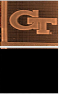 Five micron by five micron tapping mode atomic force microscopy images