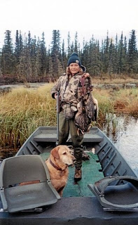 Senator Murkowski out hunting with her dog