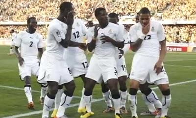 Asamoah Gyan Ghana black stars 2010 FIFA World Cup
