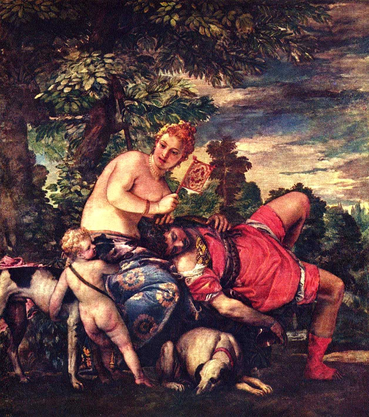 Venus and Adonis by Paolo Veronese Public Domain Clip Art ...