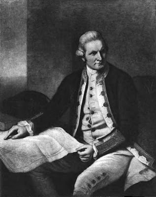 Captain James Cook. From the portrait by Nathaniel Dance