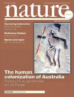 Nature cover, 20 February 2003