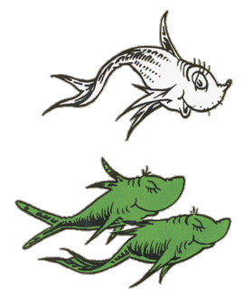 Neurodojo one fish two fish can fish count for One fish two fish red fish blue fish coloring page