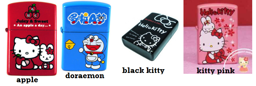 hello kitty/doraemon lighter
