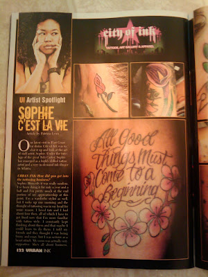 City of Ink's Sophie C'est La Vie in URBAN INKalso features Imani & Goldi