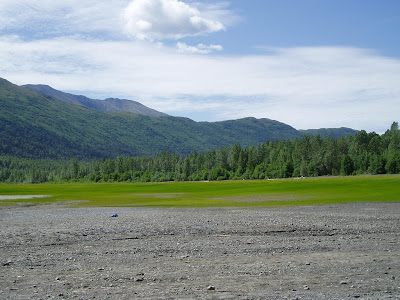 Eklutna Lake near Anchorage, AK photo by J. Chamberlain July 2006