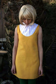 Yellow mod drees OOAK