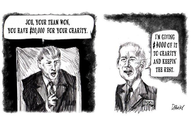 Charity Cheapskate Biden