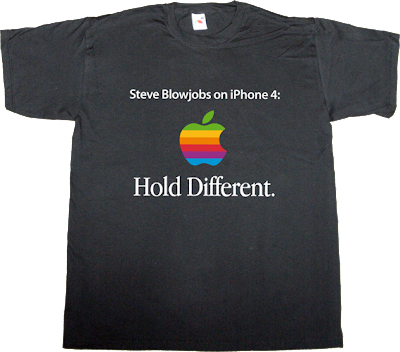 apple iphone 4 steve jobs antenna issue t-shirt ephemeral-t-shirts