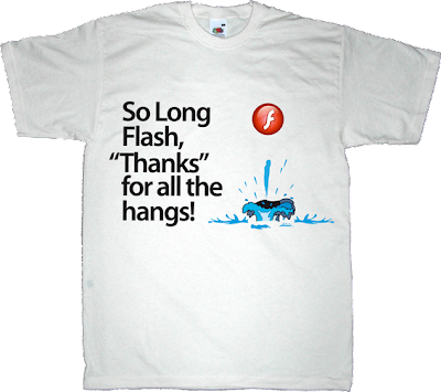 flash Flash Wars obsolete mpeg LA h.264 free The Hitchhiker's Guide to the Galaxy t-shirt ephemeral-t-shirts