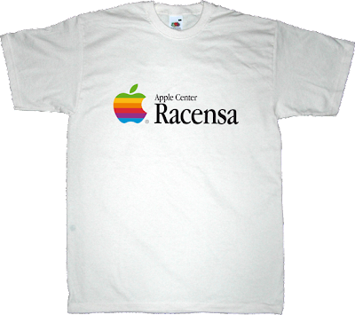 apple apple store osafr fanboy old school Barcelona apple center t-shirt ephemeral-t-shirts