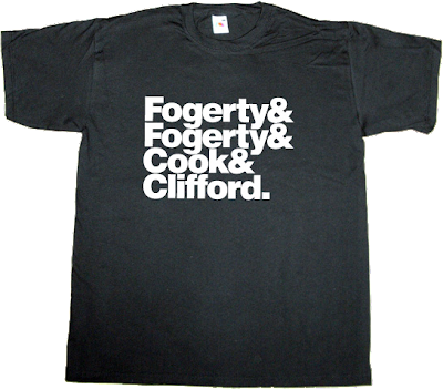 CFRBMN rock Creedence Clearwater Revival helvetica t-shirt ephemeral-t-shirts
