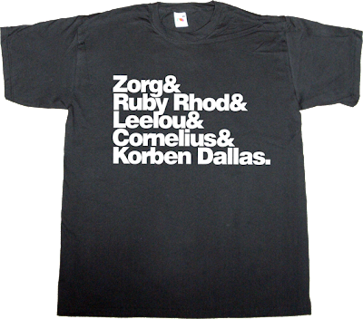 the Fifth Element Bruce Willis movie helvetica t-shirt ephemeral-t-shirt