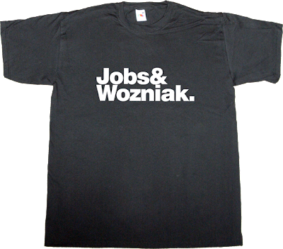 apple, steve jobs steve wozniak macintosh helvetica t-shirt ephemeral-t-shirts