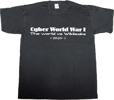 war wikileaks Julian Assange amazon paypal Politics t-shirt ephemeral-t-shirts