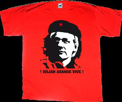 Julian Assange wikileaks che Guevara t-shirt ephemeral-t-shirts
