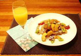 Our Tour de France Brunch: French Toast with Sauteed Apples & Mimosas