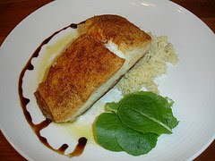 Crusted Halibut with Basmati Rice
