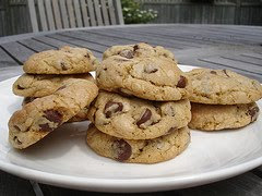 Chewy baileys chocolate chip cookies