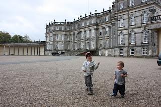 Jack & Ben exploring Hopetoun grounds