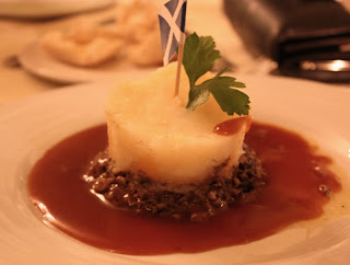 A Traditional Scottish Dinner with Haggis