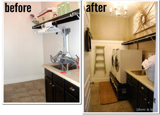 The Busy Budgeting Mama: Laundry Room Loveliness - Show and Tell's