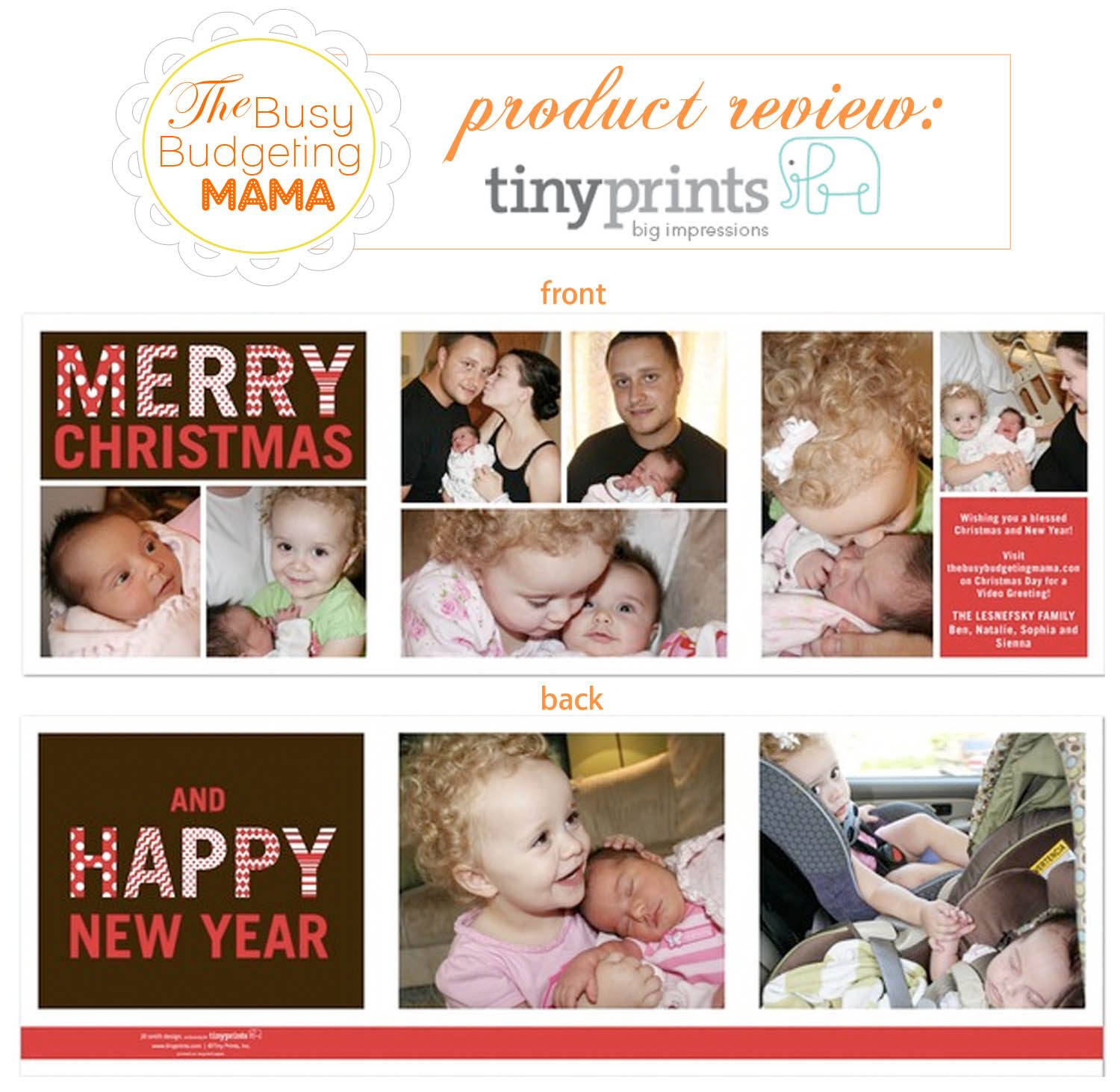 Our 2010 Christmas Card & Tiny Prints Review – At Home With Natalie