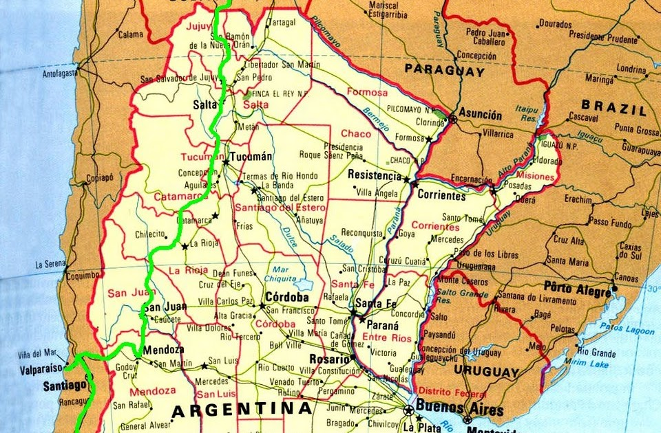 Cycle Touring The Americas Argentina And Chile Route Map - Argentina chile map