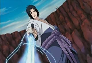 uchiha sasuke sword kusanagi sword chidori