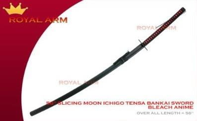 bleach zanpakutou kurosaki ichigo bankai sword replica royalarm tensa zangetsu