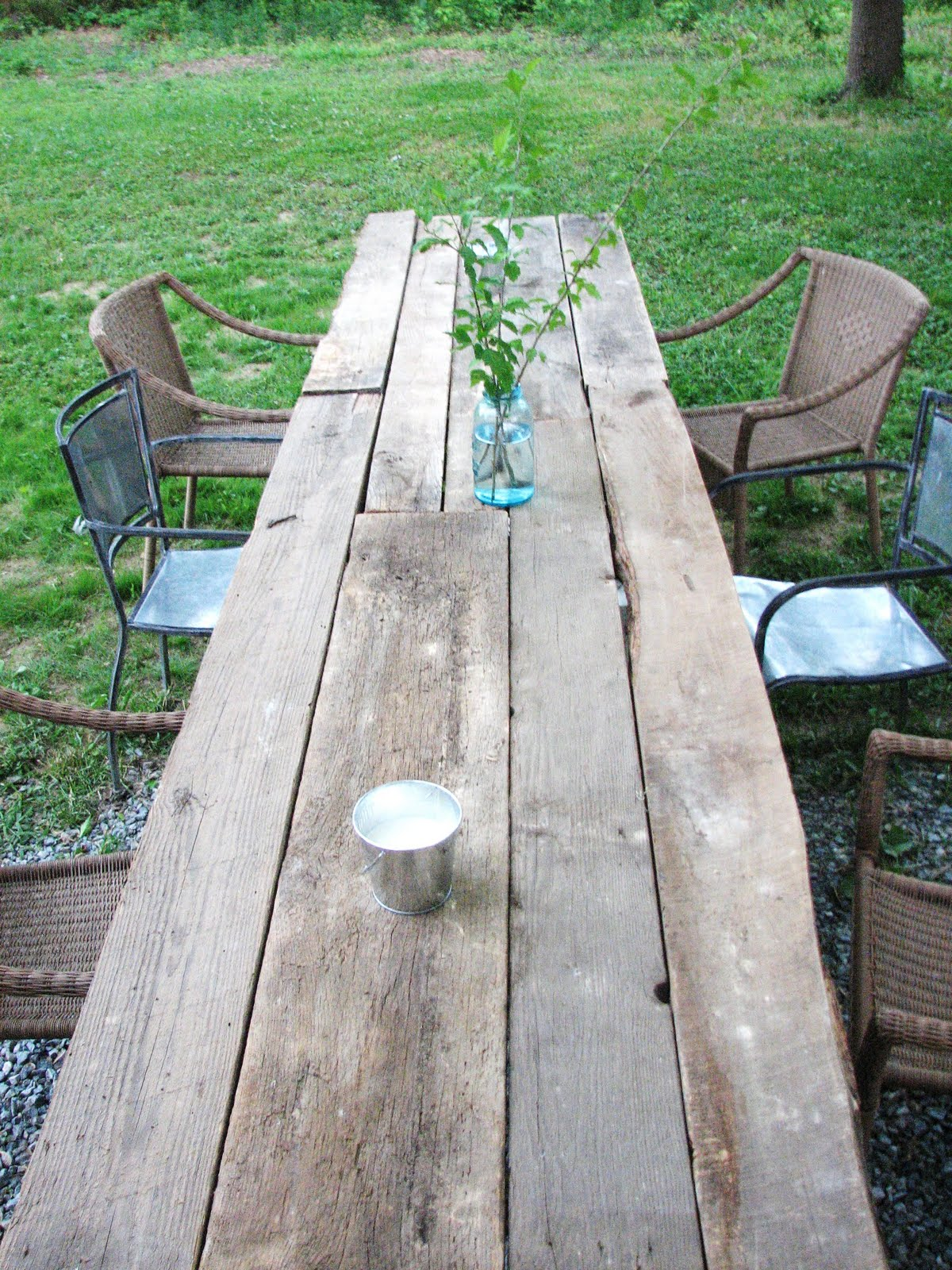 home and garden outdoor harvest table With barnwood outdoor table