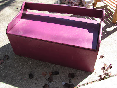 toy box to painted bench makeover