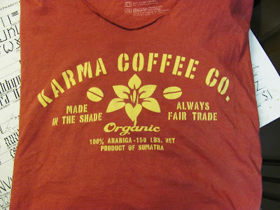 tshirt with coffee logo as paint inspiration